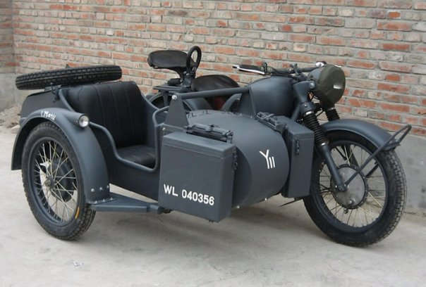 cj750 sidecar-wwii based bmw r71 and r75 replica for sale